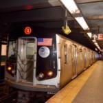 ニューヨークと駅のホームと横断歩道